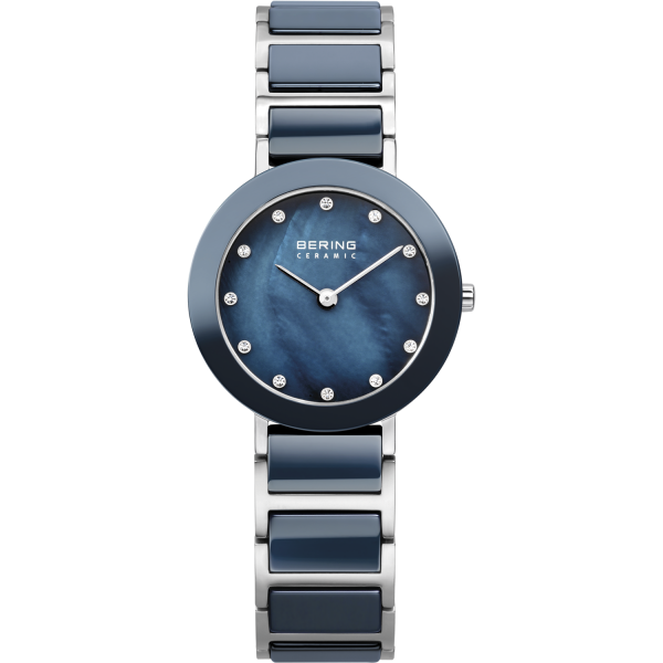 Bering Damen Armbanduhr 11429-787 Ceramic blau