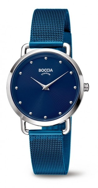 Boccia Damen Armbanduhr 3314-07 Style blau