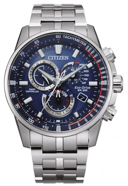 Citizen Herren Armbanduhr CB5880-54L Funk Eco Drive