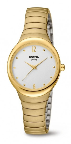 Boccia Damen Armbanduhr 3307-02 Trend gelbgold IP