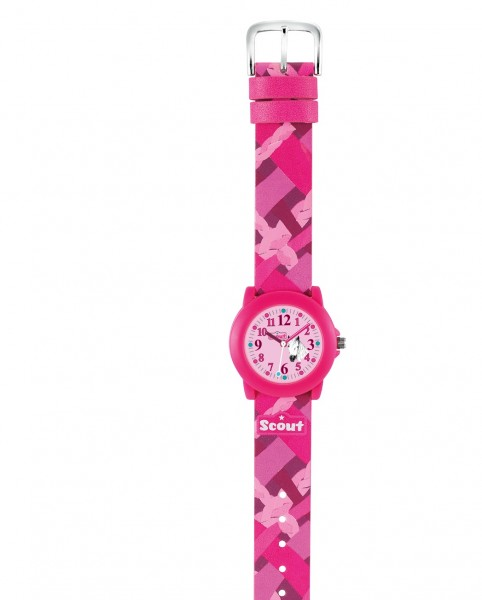 Scout Mädchen-Armbanduhr rosa Pferd 280305007