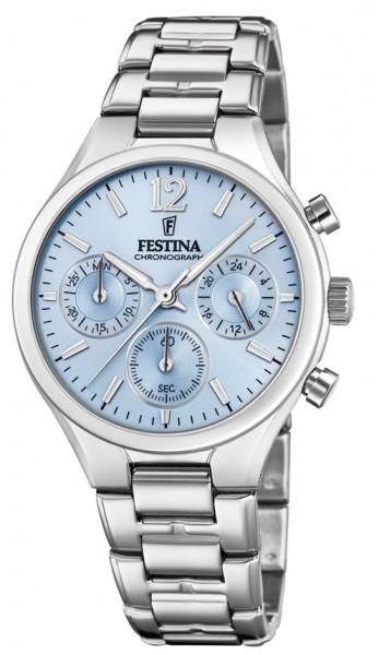 Festina Damen Armbanduhr F20391/3 Chronograph Boyfriend