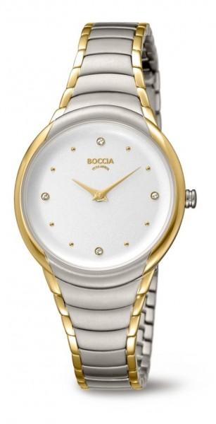 Boccia Damen Armbanduhr 3276-10 Trend bicolor