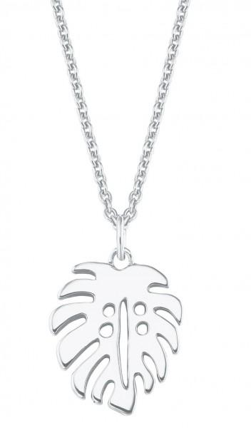 s.Oliver Damen Halskette SO PURE 2027559 Blattanhänger Silber