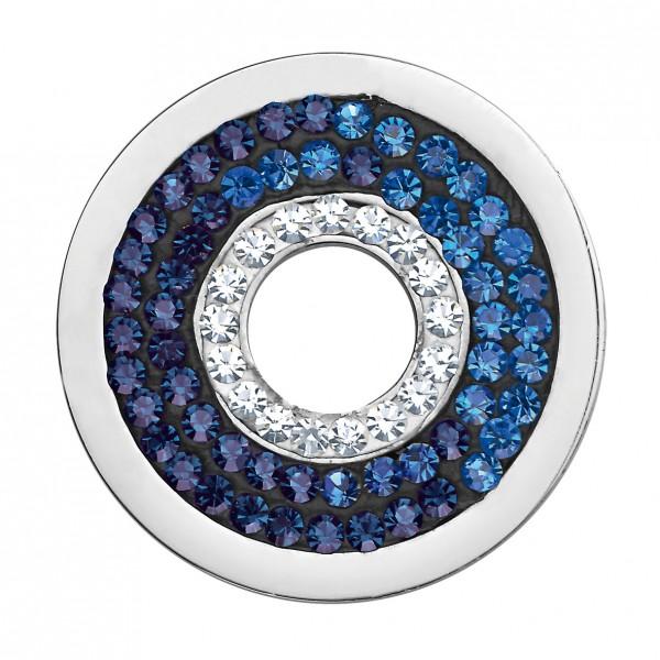 CEM Coins CS183/CS184 Anhänger Kreis Kristall blau-melliert