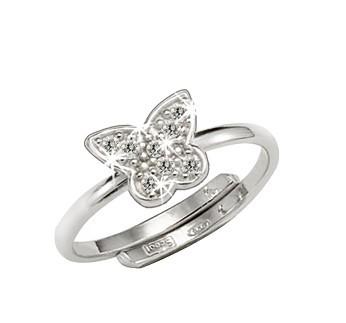 Scout Ring 263014100 Schmetterling Zirkonia Silber 925