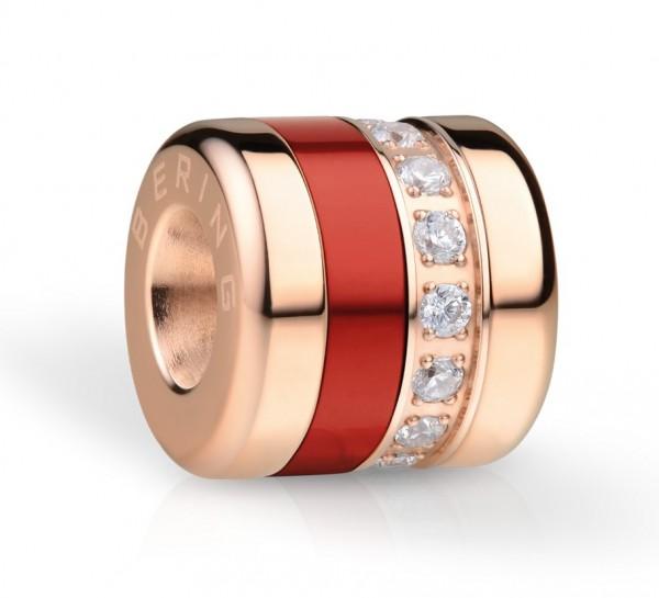 Bering Charm Soulmate-2 Edelstahl rosé Aluminium rot Zirkonia ARCTIC SYMPHONY COLLECTION