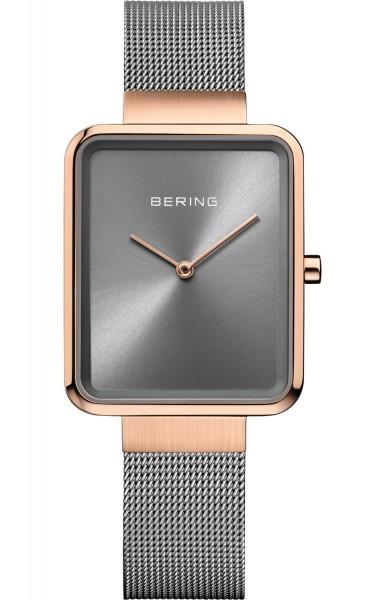 Bering Damen Armbanduhr 14528-369 Classic roségold grau IP