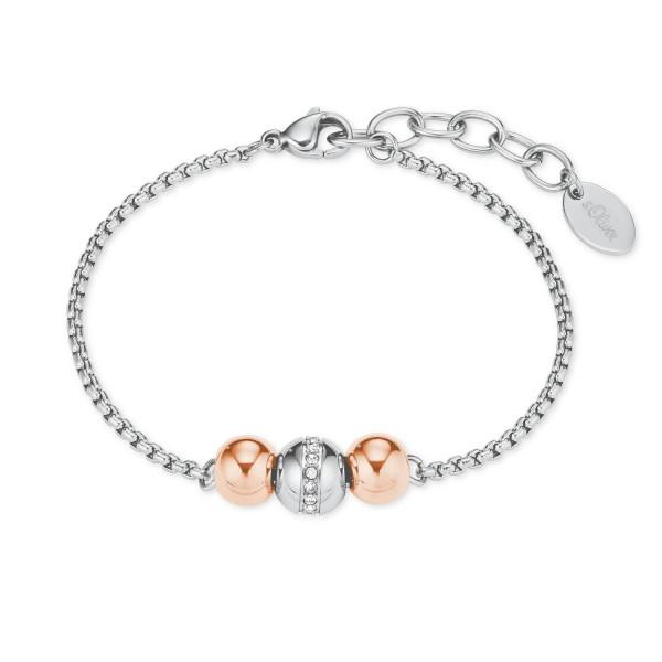 s.Oliver Damen Armband 2022657 Swarovski Edelstahl bicolor