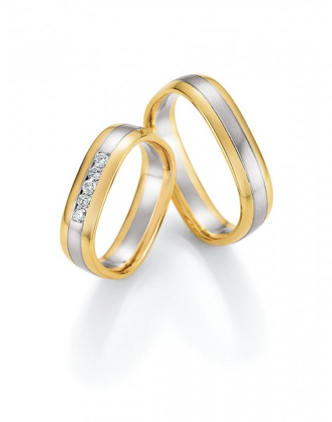 Eheringe Trauringe Quadra 66/49150 66/49160 Weißgold Gelbgold