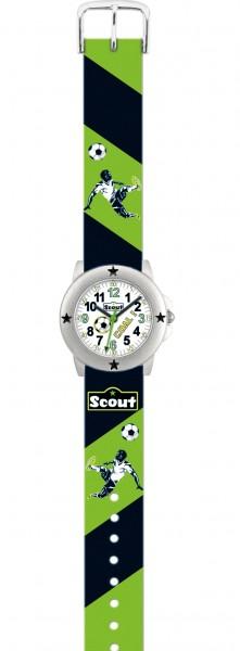Scout Jungen Armbanduhr 280393004 Star Kids Goalgetter grün-schwarz