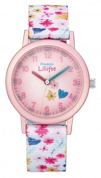 Prinzessin Lillifee Kids - Girls Armbanduhr 2031758 Textilband Blumen