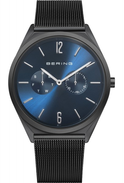 Bering Herren Armbanduhr 17140-227 Ultra Slim schwarz IP