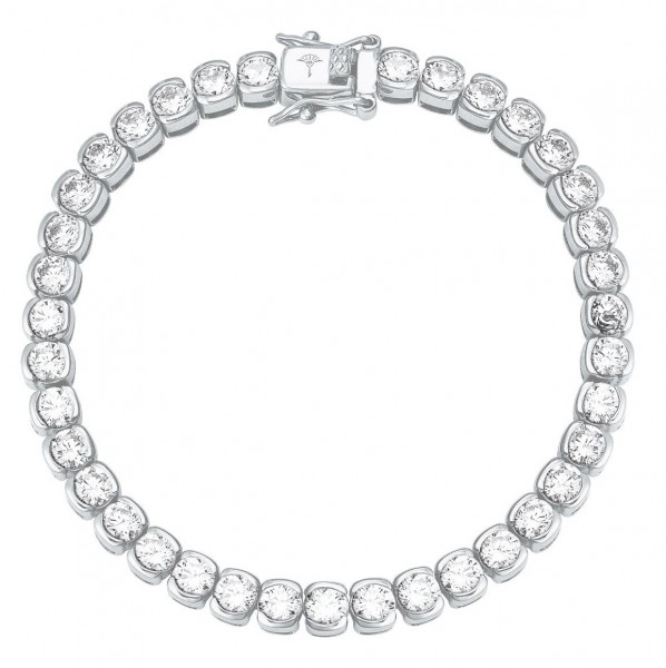 JOOP! Damen Tennis Armband 2026877 Silber Zirkonia