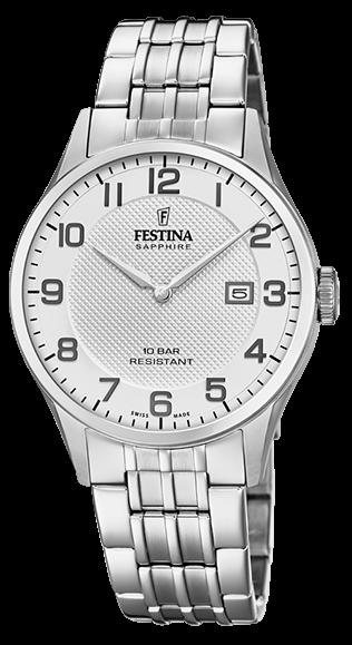 """Festina Herren Armbanduhr F20005/1 """"Swiss Made"""""""