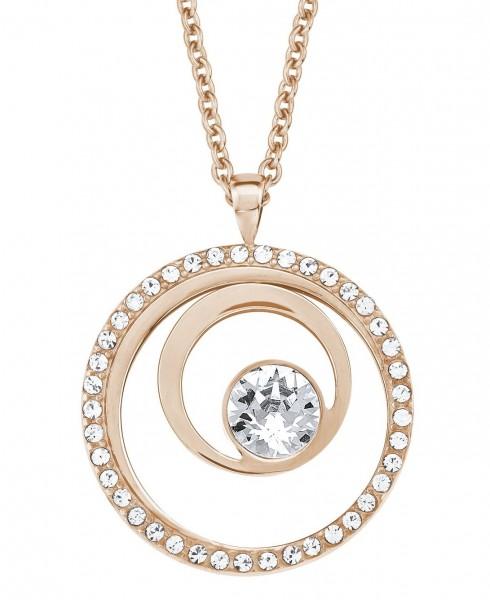 s.Oliver Damen Halskette 2015047 Edelstahl Rosé mit Swarovski Crystals