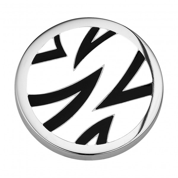 CEM Coins CS065/CS066 Anhänger Emaille schwarz weiß