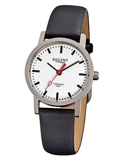 Regent Damen Armbanduhr 6936.90.10 F-240 Titan Lederband