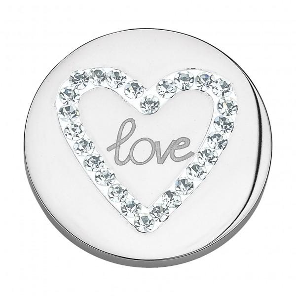 CEM Coins CS091/CS092 Anhänger Love Herz Zirkonia