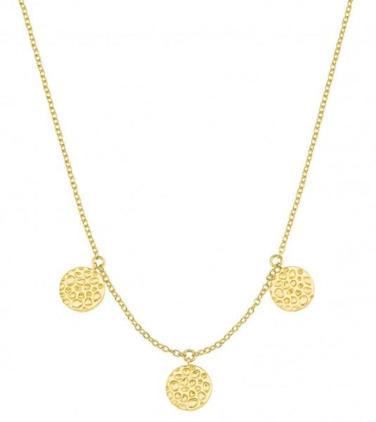 s.Oliver Damen Münzkette SO PURE 2027551 Silber vergoldet