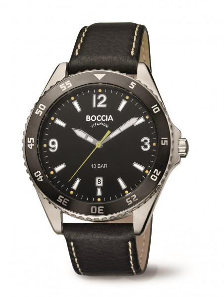 Boccia Herren Armbanduhr 3599-02 Ceramic