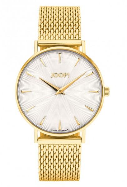 JOOP! Damen Armbanduhr 2027243 Metallband gelbgold IP