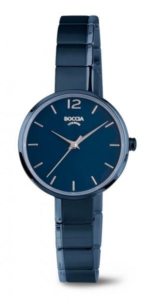 Boccia Damen Armbanduhr 3308-04 Style blau IP