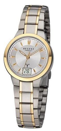 Regent Damen Armbanduhr 3232.91.91 FR-271 Funk Titan bicolor