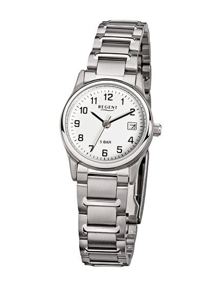 Regent Damen Armbanduhr F-140 Edelstahl