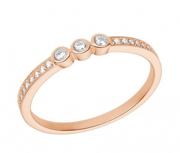 s.Oliver Damen Ring 2026103 Silber rosevergoldet Zirkonia