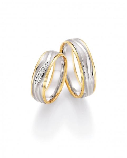 Eheringe Trauringe Solid V 66/45050 66/45060 Weißgold Gelbgold