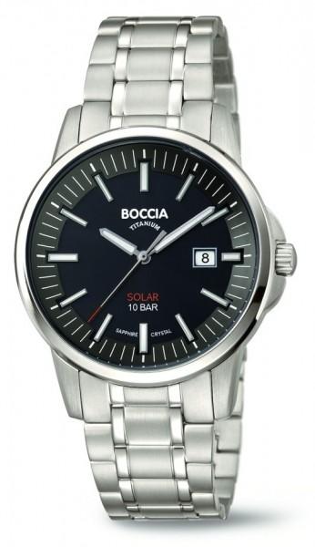 Boccia Herren Armbanduhr 3643-04 Solar