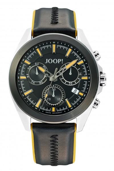 JOOP! Herren Armbanduhr 2030897 Chronograph Nylon-Lederband schwarz gelb