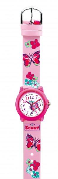 Scout Crystal 280305013 Kinderuhr Schmetterling rosa