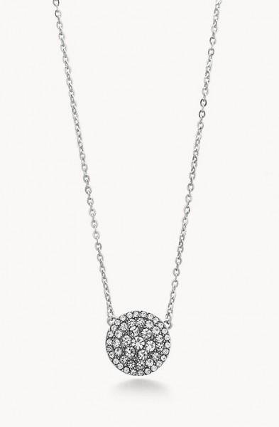 Fossil Damen Halskette JF00138040 Edelstahl Kristalle