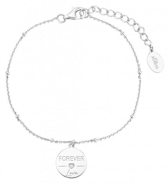 s.Oliver Damen Armband SO PURE 2031415 Forever Love Silber Zirkonia