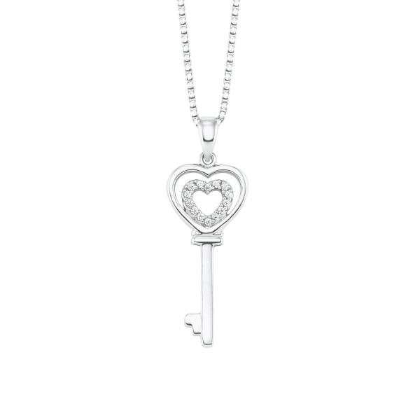 s.Oliver Damen Halskette 2024138 Silber Schlüsselanhänger