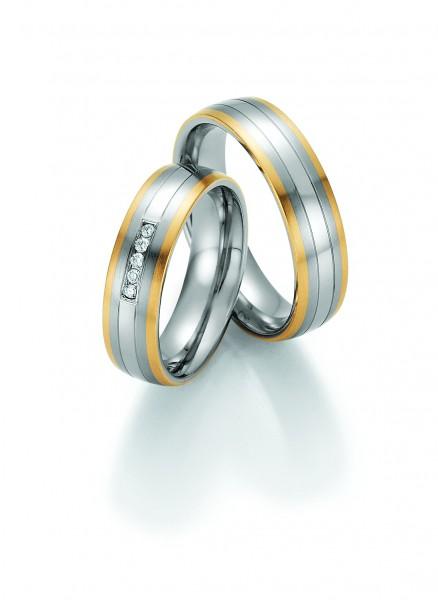 Trauringe 88/60090-88/60100 Steel & Gold Sensation