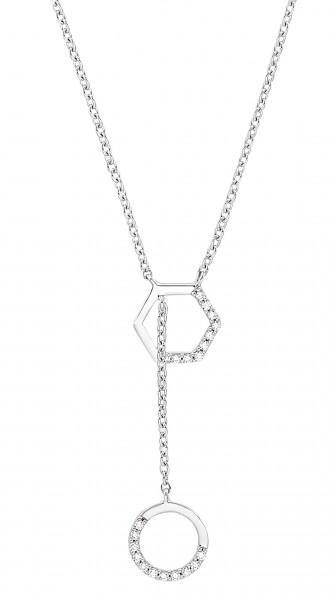 s.Oliver Damen Y-Halskette 2031420 Silber Zirkonia