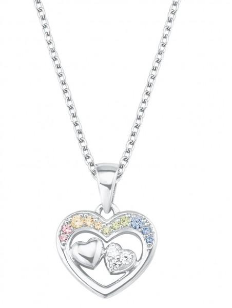 Lillifee Mädchen Halskette 2027905 Herzanhänger Silber Zirkonia