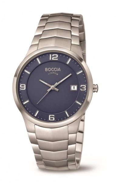 Boccia Herren Armbanduhr 3561-04 Superslim