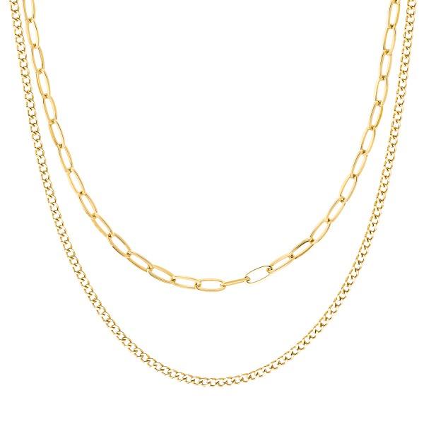 JOOP! Damen Halskette 2031015 Edelstahl gelbgold IP