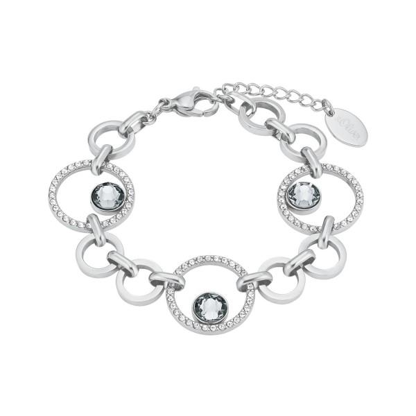 s.Oliver Damen Armband 2024268 Edelstahl mit Swarovski® Kristallen