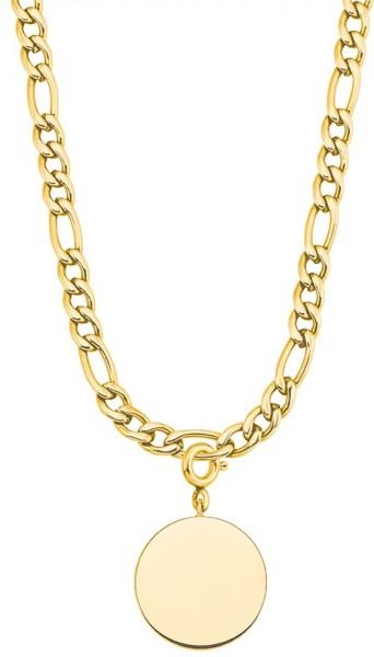 s.Oliver Damen Halskette 2028468 Y-Collier Edelstahl Gelbgold IP