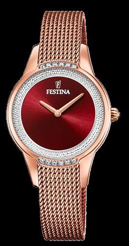 Festina Damen Armbanduhr F20496/1 Mademoiselle mit Swarovski Kristallen