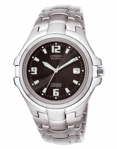 Citizen Herren Armbanduhr Eco-Drive BM1290-54F Super Titanium
