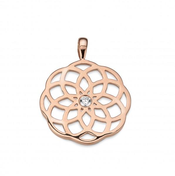 CEM Trends Damen Anhänger 5-210491-001 S-00581A Blume Silber rosévergoldet