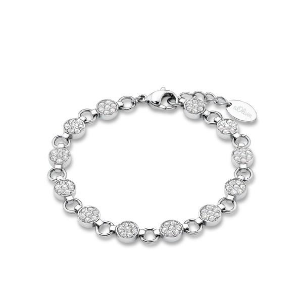s.Oliver Damen Armband 9078486 Swarovski Edelstahl