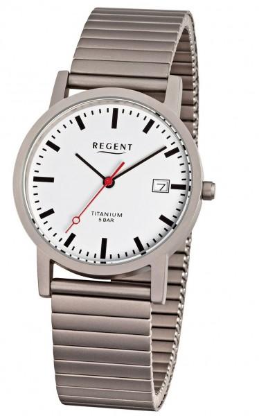 Regent Herren Armbanduhr 1239.90.90 F-475 Titan Zugband