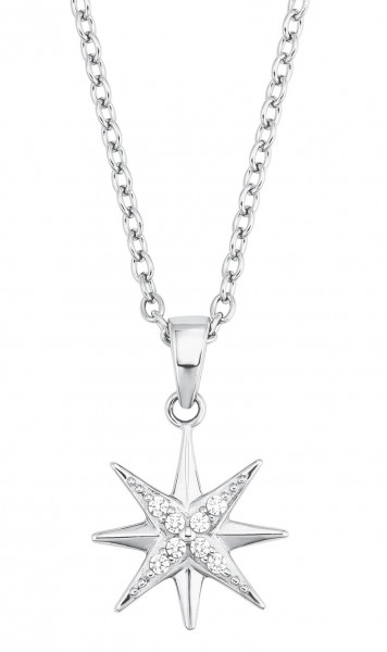 s.Oliver Damen Halskette 2028519 Stern Silber Zirkonia